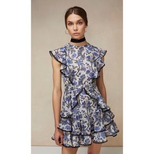 Amur Ruffle Sustainable Material Floral Dress 0